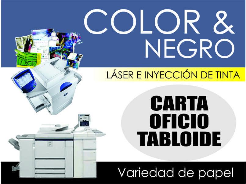 Se Sacan Copias E Impresiones A Color Y Blanco Y Negro